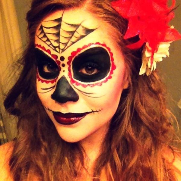 Легкий грим на хэллоуин