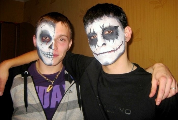 Макияж на хэллоуин для хлопців