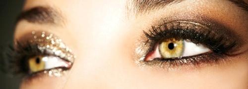Новогодний макияж 2014 в золотых тонах