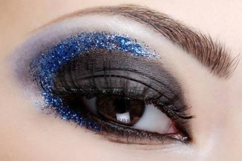 Новогодний макияж 2014 в синих тонах